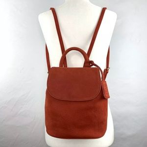 Nine West vintage leather red mini backpack purse